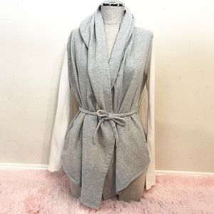 Anthropologie Saturday Sunday Grey Wrap Cardigan